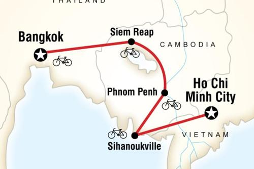INDOCHINA Active Overland Cycling Tour