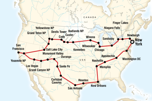 Ultimate USA 44 Day Tour
