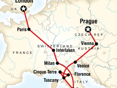 London to Prague Overland