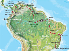 Rio to Quito via The Guianas (15 weeks) Trans South America