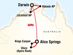 Alice Springs and Darwin by Rail