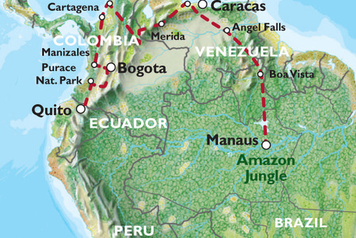 Manaus to Quito Overland Tour (50 days)