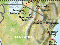 East Africa Family Adventure Holiday: Nairobi to Dar Es Salaam
