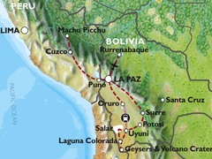 Cuzco to La Paz (27 days) Peru & Bolivia Encompassed (Inc. Amazon Jungle)