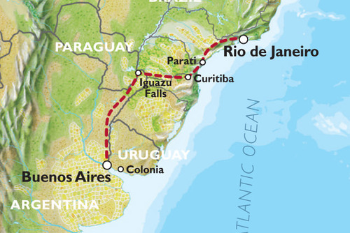 Buenos Aires to Rio (18 days) Waterfalls, Wetlands and Wildlife