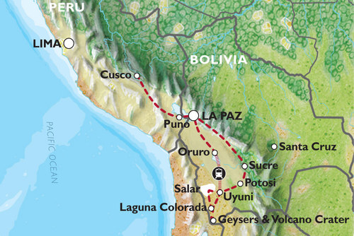 Cusco to La Paz (23 days) Peru & Bolivia Encompassed