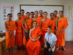 Teaching English to Buddhist Monks in Thailand - from just US$42 per day!