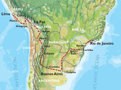 Lima to Rio via Buenos Aires (51 days) Southern Trans Oceanic
