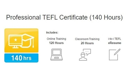 Professional TEFL Certificate (140 Hours) with i-to-i TEFL