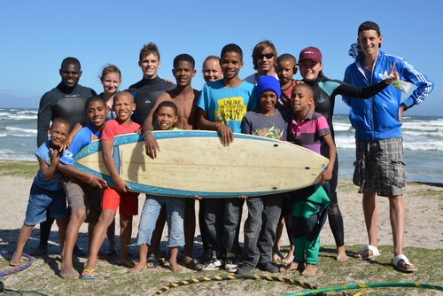 Surfing in Cape Town, South Africa