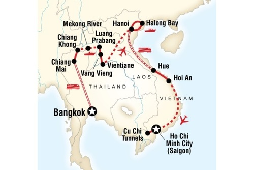 Thailand, Laos and Vietnam Adventure Tour