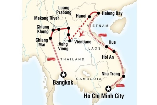 Laos, Thailand and Vietnam on a Shoestring