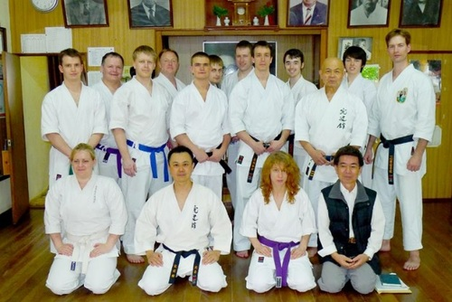 Karate Training in Okinawa, Japan