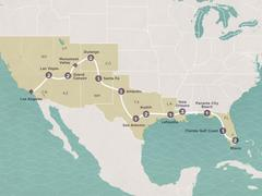 The Big Easy (Miami to Los Angeles or reverse)