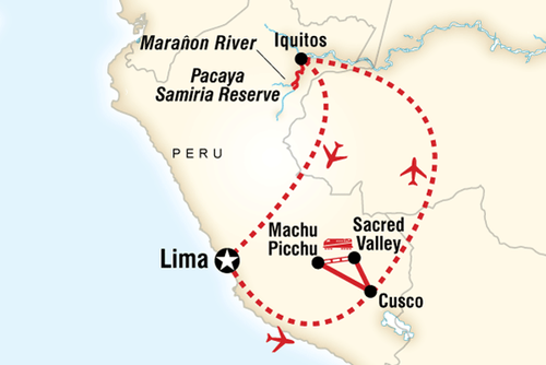 Machu Picchu & Amazon Riverboat Adventure