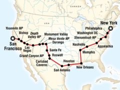 New York to San Francisco Overland Adventure