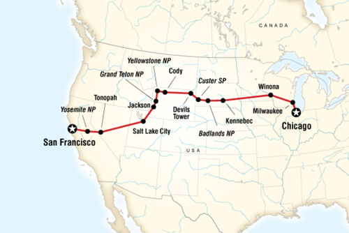Chicago to San Francisco Overland