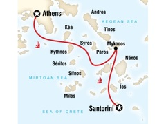 Sailing Greece - Santorini to Athens