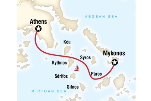 Sailing Greece - Mykonos to Athens