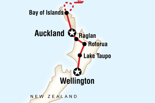 New Zealand North Island Encompassed