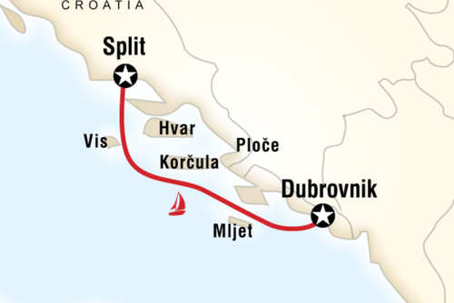 Dubrovnik to Split and Sailing Adventure