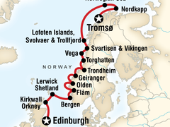 Scottish Islands & Norweigan Fjords - Edinburgh to Tromso