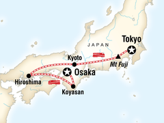 Japan Express Tour: Osaka to Tokoyo