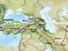 Istanbul to Ashgabat (44 days) Caucasus and Persia Explorer