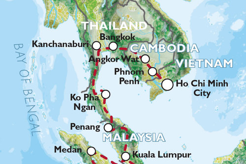 Ho Chi Minh City to Singapore (44 days) South East Asia Highlights