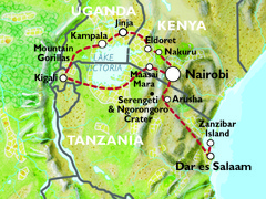 Nairobi to Dar es Salaam (33 Days) Gorillas, Gameparks and Zanzibar
