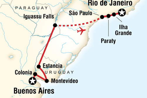 In Search of Iguassu - Buenos Aires to Rio