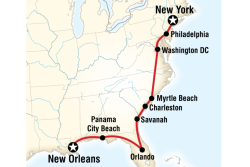 Bayou to the Big Apple – East Coast Road Trip