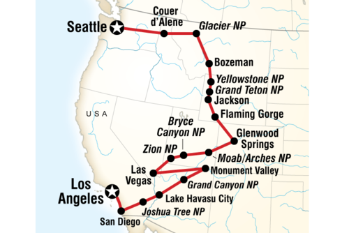 Los Angeles to Seattle Road Trip