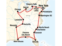 USA East Coast Road Trip Encompased