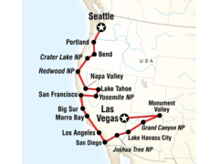 Pacific Coast to Las Vegas Road Trip