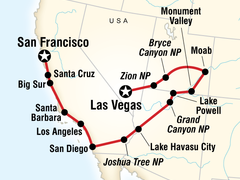 Canyon Country & Coasts - Las Vegas to San Francisco