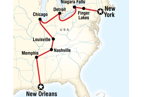 New York to New Orleans Road Trip