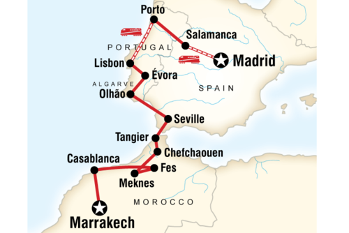 Spain, Portugal and Morocco Adventure