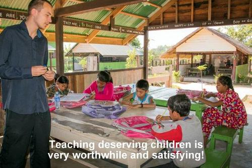 CAMBODIA: Teach Disadvantaged Children in a School in Samraong