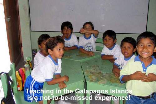 ECUADOR: GALAPAGOS ISLANDS: Teach English to School Children