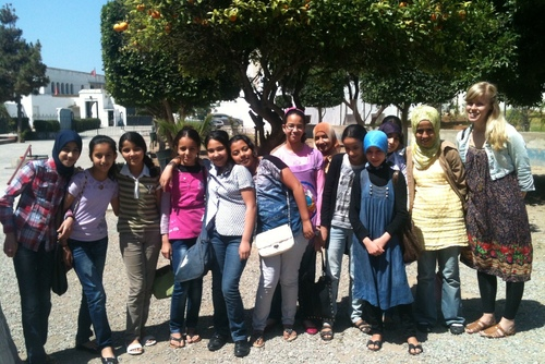 Volunteer Helping Underprivileged Children in Rabat, Morocco