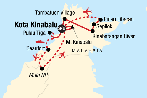 Borneo and Mt Kinabalu Encompassed