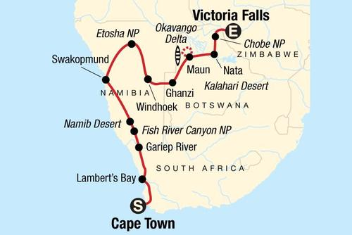 Cape Town to Victoria Falls Adventure