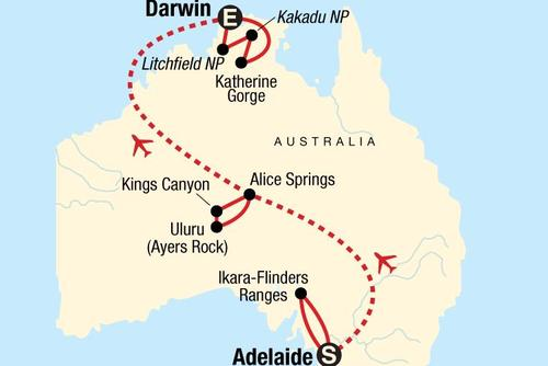 Melbourne to Darwin Adventure