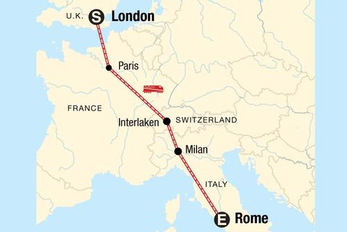 London to Rome Adventure Tour
