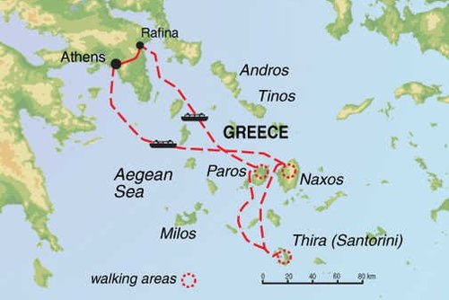 Greek Islands Walking Tour