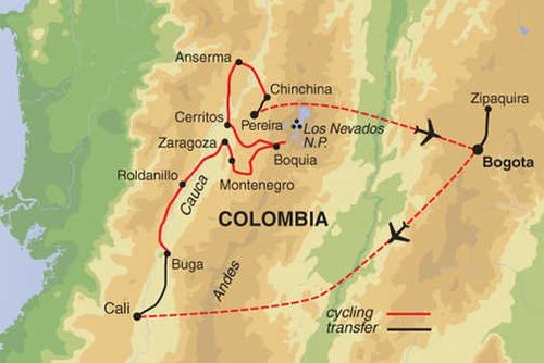 Colombia Cycling Tour