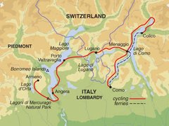 Italian & Swiss Lakes Cycling Tour