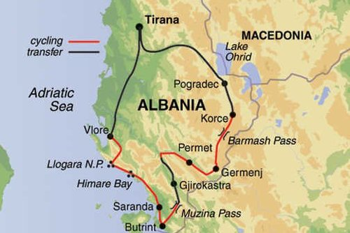 Albania Cycling Tour