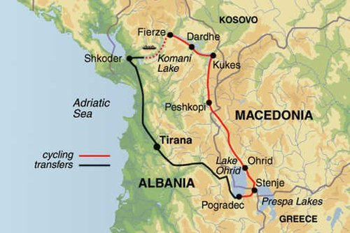 Macedonia & North Albania Cycling Tour